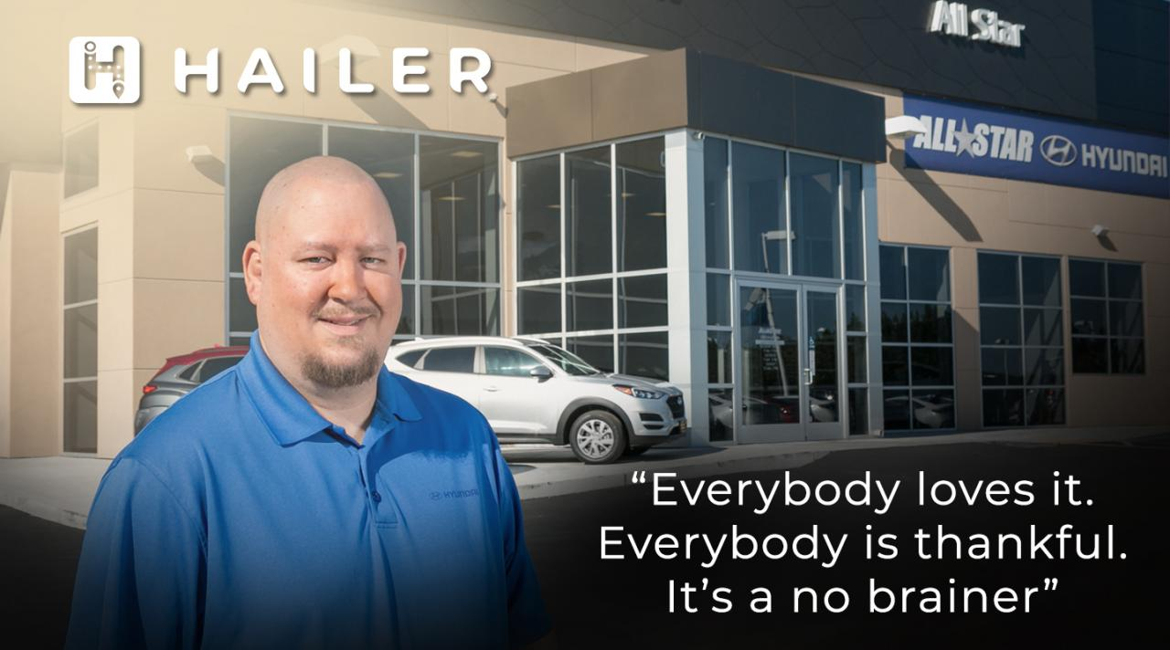 All Star Hyundai loves Hailer